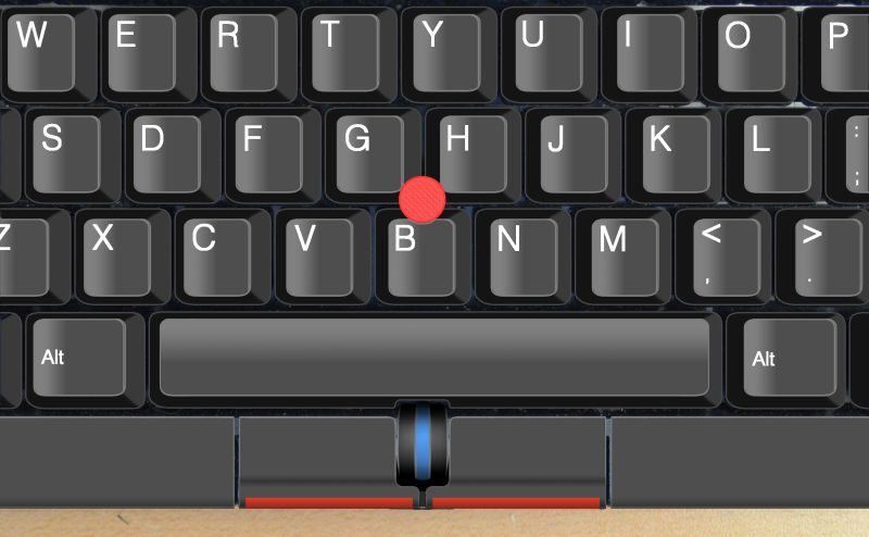 Migliori tastiere da gaming con sistemi di puntamento integrati, info: il TrackPoint